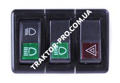 Блок переключателей (перекл. света+ аварийка)  DongFeng 240/244