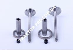 Клапана впуск выпуск к-т + направляющие + седла KM130/138 (Xingtai 24B, Shifeng 244, Taishan 24)