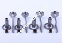 Клапана впуск выпуск + седла + направляющие TY2100 (Xingtai 244)